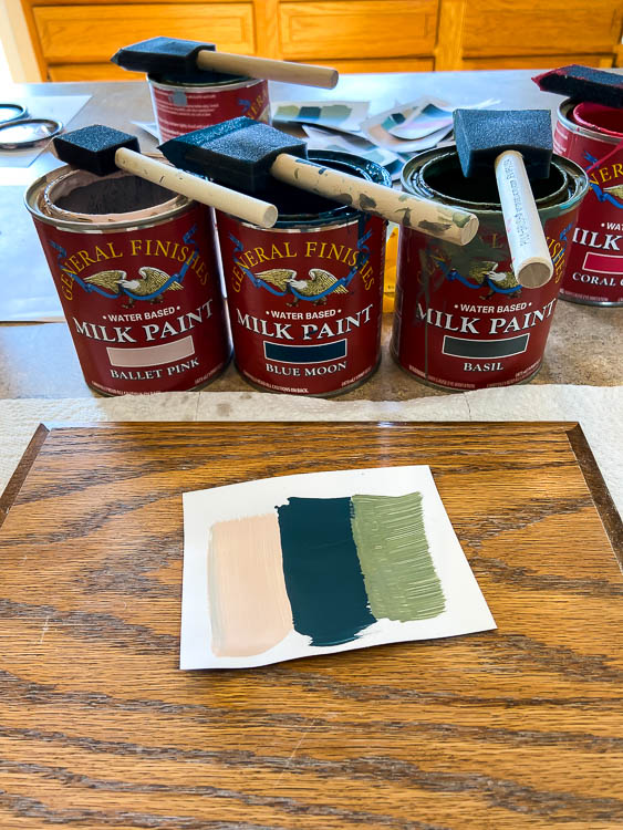 general finishes milk paint cans and paint color palette