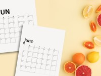 Free June 2020 Calendar Printables | Sunday And Monday Start