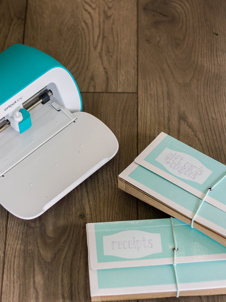 cricut joy and labeled accordion files