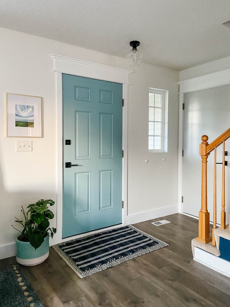 front door interior painted blue