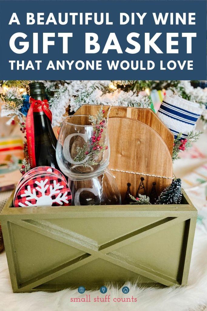 gift basket under tree