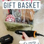 shrink wrapping gift basket