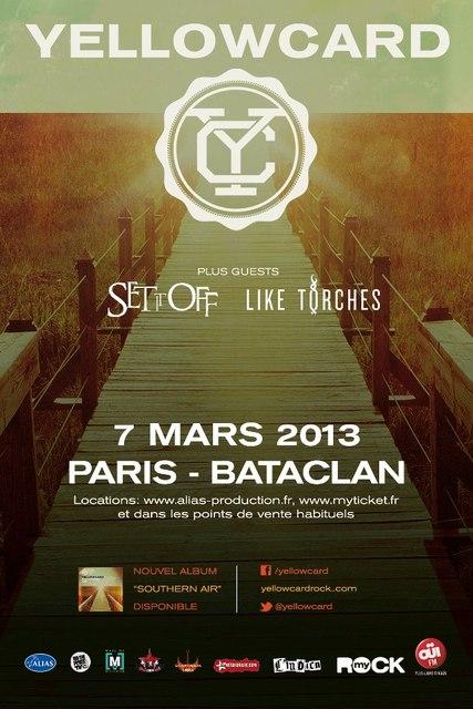 concert - Yellowcard - Bataclan - 7 mars 2013