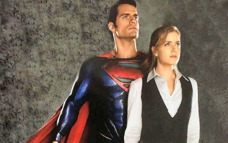 amy adams - Man Of Steel : Lois et Superman ensemble en couverture