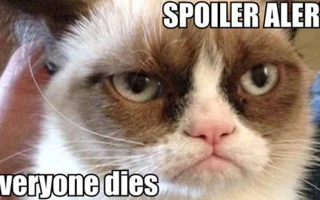 sériephilie - Le spoiler : petite typologie de l'ennemi du sérievore 63401 Grumpy cat game of thrones spo 8Tvy