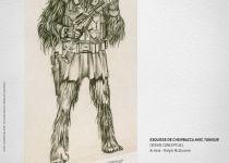 exposition star wars - Star Wars Identités : premiers visuels de l'expo Props Chewbacca concept FRAN4