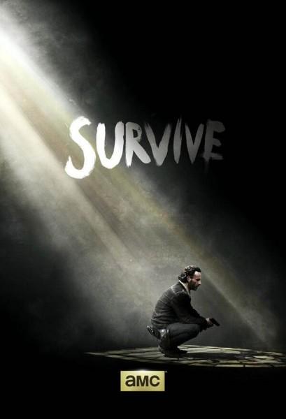 saison 5 - Comic-Con 2014 : The Walking Dead tease la saison 5 the walking dead poster survive saison 5