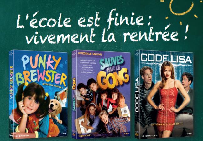 Test DVD : Sauvés par le gong, Code Lisa, Punky Brewster