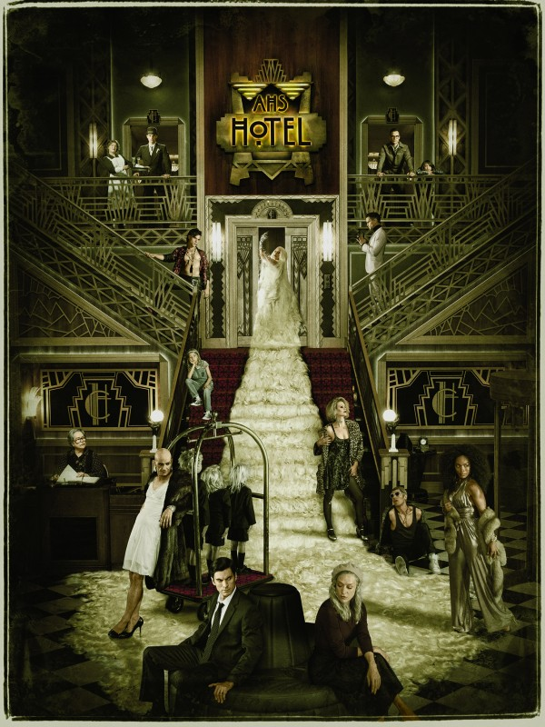American Horror Story: Hotel Key art featuring cast