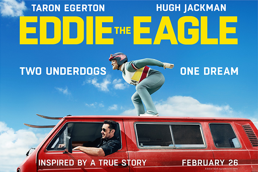 Eddie the Eagle : he can fly, but he can't touch the sky