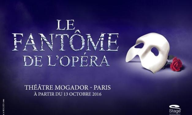 Soyez prêt pour Le Fantôme de l'Opéra au théâtre Mogador !