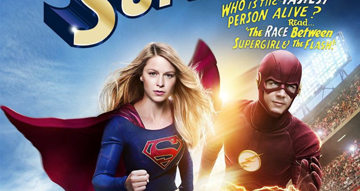 crossover - Supergirl / Flash : World's (not so) finest supergirl the flash crossover poster2