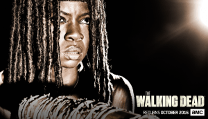 sdcc - #SDCC - Walking Dead tease son retour avec affiches et reconstitution pour la saison 7 the walking dead season 7 poster michonne