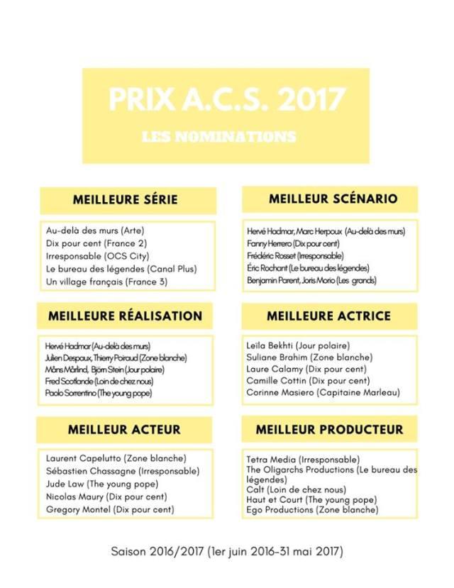 Dix pour cent - Prix ACS : les nominations pour les meilleures séries françaises prix ACS 2017