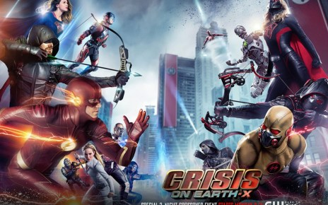 crisis on earth-x - Crisis on Earth-X : le crossover qu'on n'attendait plus entre Supergirl, Arrow, Flash et Legends of Tomorrow cw crisis on earth x 2017 crossover keyart