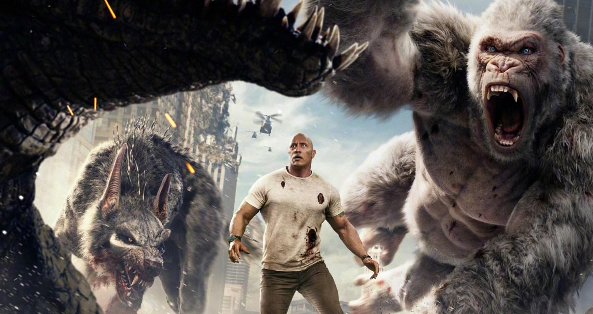 Critique d'adaptation - Rampage : Dwayne vs les animaux mutants géants rampage critique poster