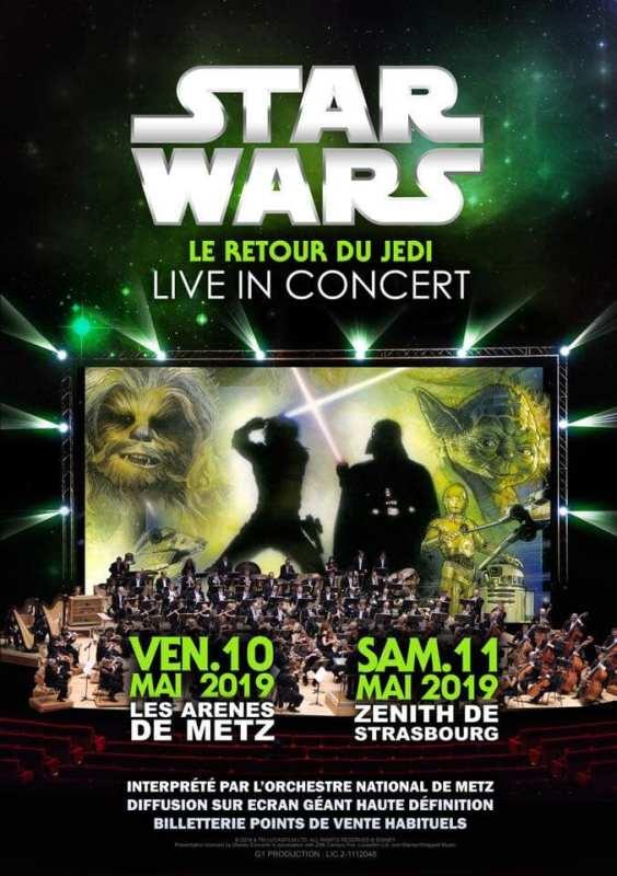 ciné-concert - Star Wars 5 et 6 en ciné-concert en 2019 cine concert star wars jedi