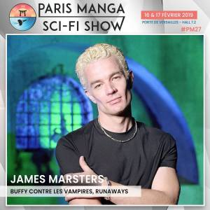 paris manga - Paris Manga & Sci-Fi Show 2019 : les invités (Buffy et Gotham) james marsters paris manga