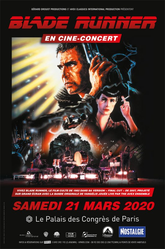 blade runner - Blade Runner En Ciné concert (version Final Cut) en mars 2020 balde runner cine concert