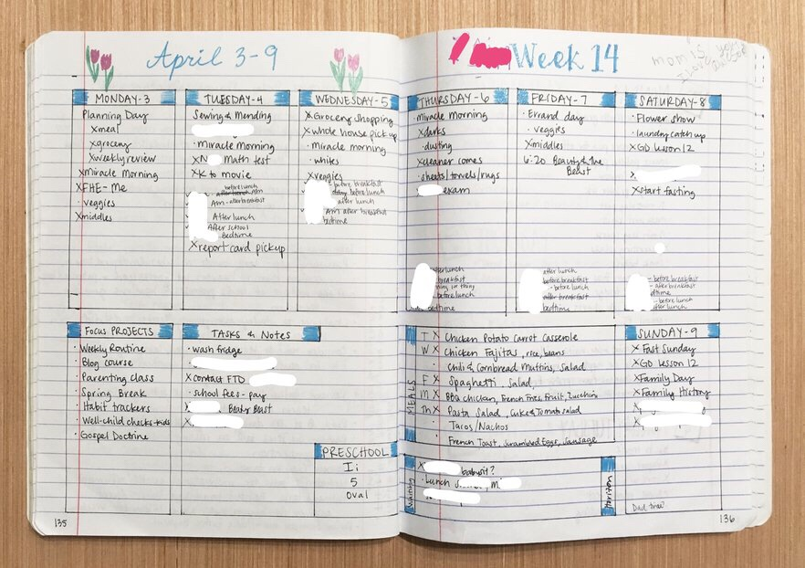 """<img class=""""size-full wp-image-524"""" src=""""https://smallthingsovertime.com/wp-content/uploads/2018/04/img_2119.jpg"""" alt=""""Using a Bullet Journal to Change Your Life - weekly log 3"""