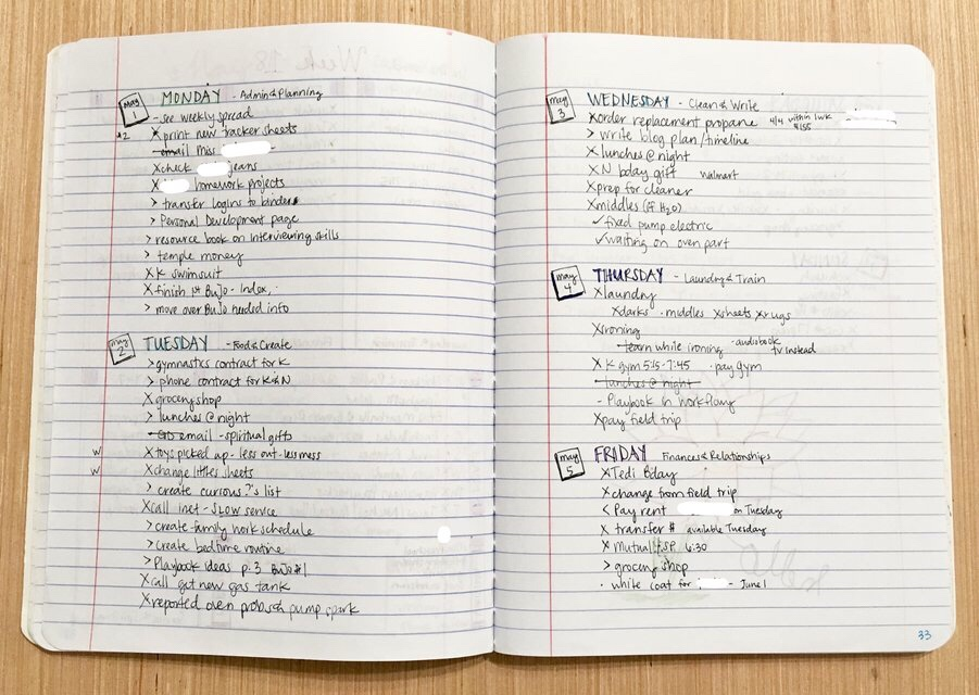 Using A Bullet Journal to Change Your Life - daily log 3