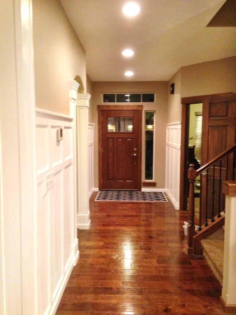 entryway with board and batton