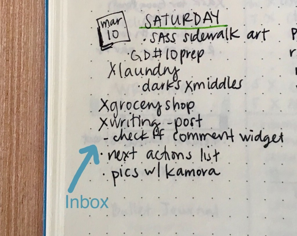 Bullet Journal to get the right things done GTD Daily Log is an Inbox
