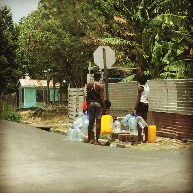 Getting government water from the street spigot