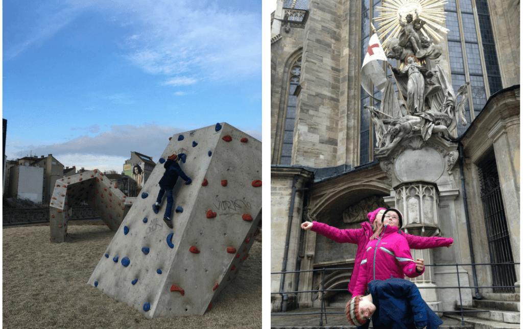 Kids having fun at different sites around Vienna