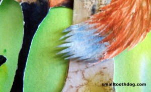 Tiny bit of the cut-paper, watercolor and acrylic work being done by Michelle Buvala for our children's book.