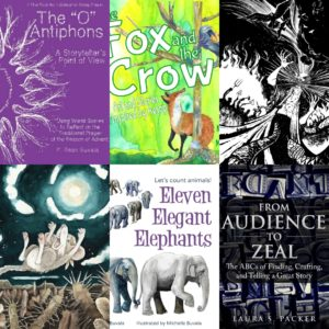 a picture of the covers of books coming from the small tooth dog publishing group including o antiphons, the fox and crow, maggots and crows, the woodrat and coyote, eleven elegant elephants and audience to zeal