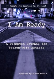 cover of the i am ready journal for spokenword artists and storytellers