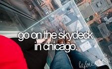 go on the skydeck in chicago