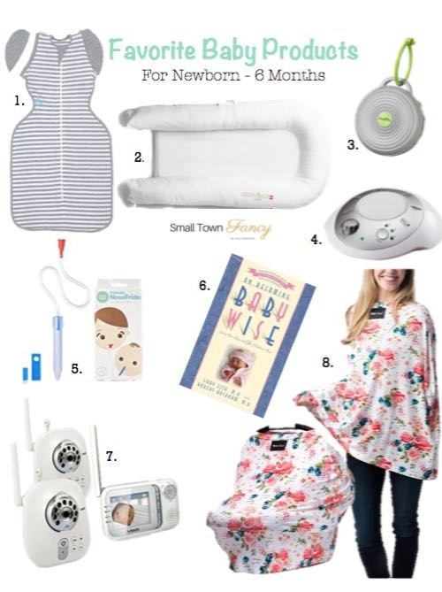 Favorite Baby Products 0-6 Months