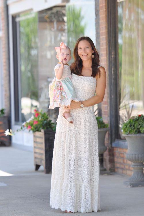 Lace Maxi Dress + Cora's 11 Month Update