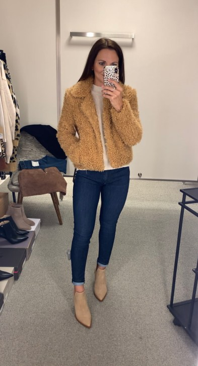 BLANKNYC Faux Fur Teddy Bear Coat