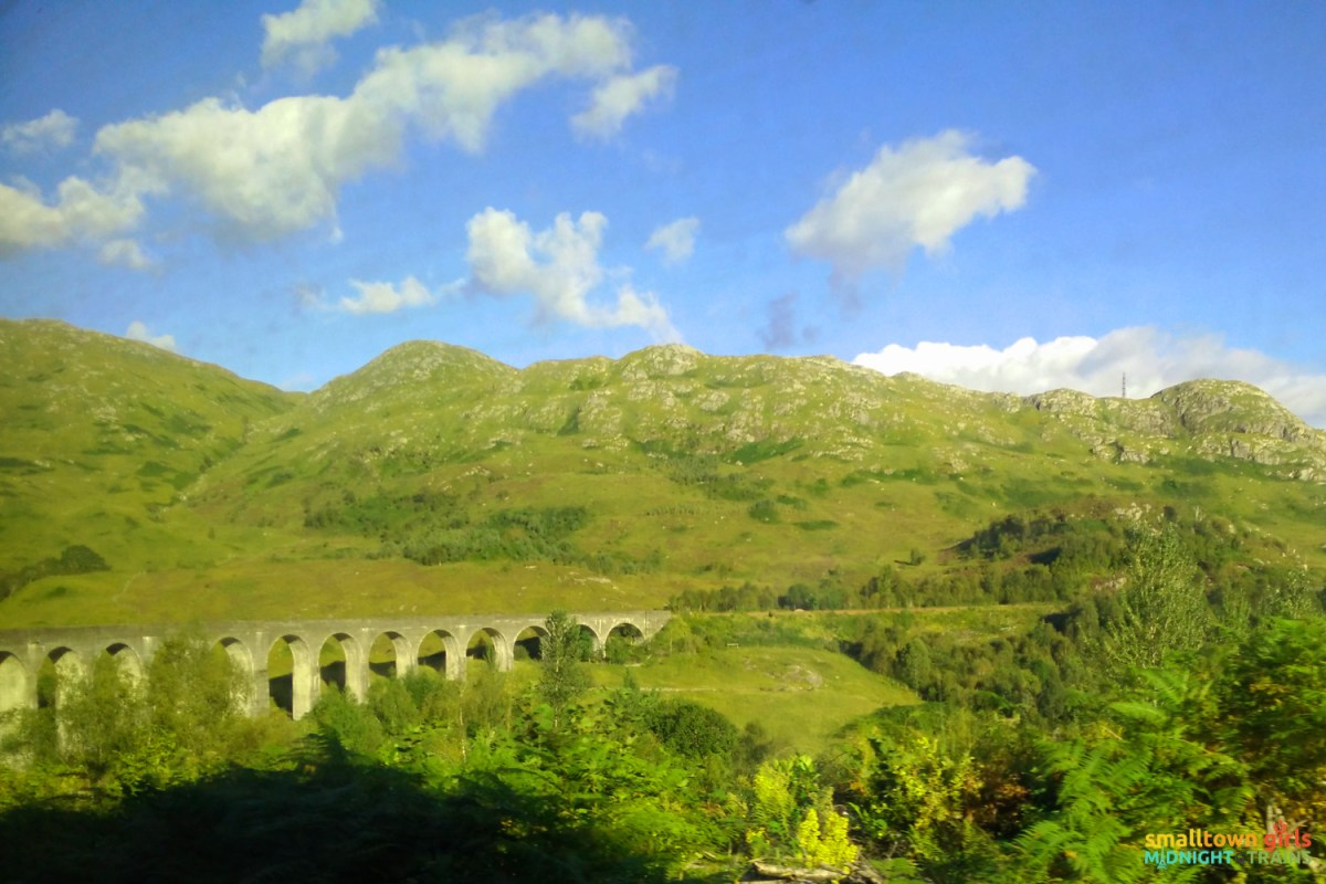 And so could the windows of the Hogwarts Express, er, I mean, the train from Fort William to Mallaig that passes by the Glenfinnan Viaduct made popular in the Harry Potter films