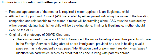 a minor applicant whose mother is also a minor