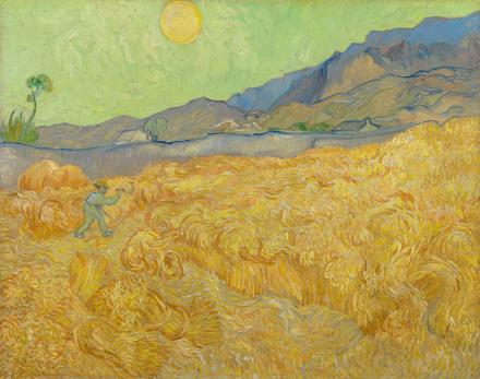 Vincent Van Gogh, Wheatfield with a Reaper, 1889 | Courtesy of the Van Gogh Museum