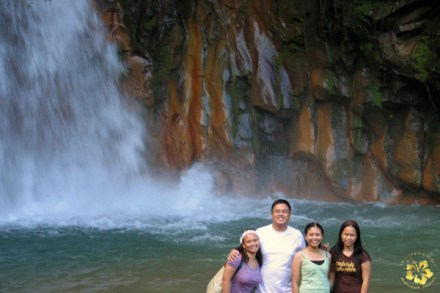 With friends at the Pulangbato falls
