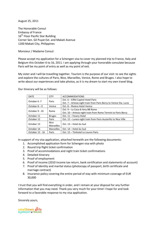 Sample Visa Refusal Appeal Letter and how to write visa letter format