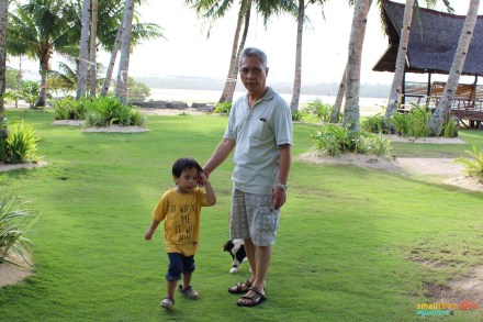 Strolling the grounds with Papu