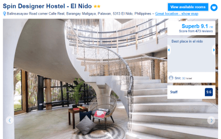Where to stay in El Nido - Spin Designer Hostel