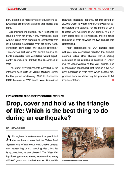Drop, cover and hold vs the triangle of life: Which is the best thing to do during an earthquake?