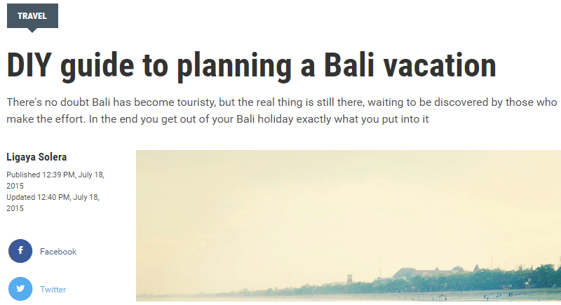 DIY guide to planning a Bali vacation