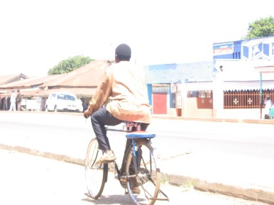 Bicycle Taxi - note the cushion over the back tire