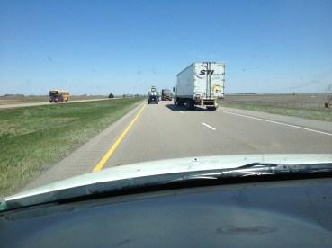 semis on I-80