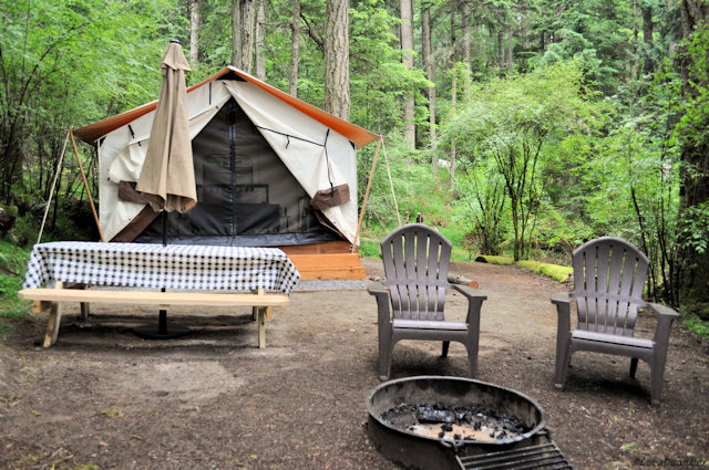 Glamp with Leanto at Moran State Park