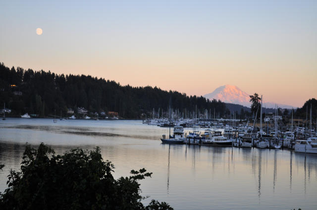 View of Mount Rainier from Gig Harbor, WA