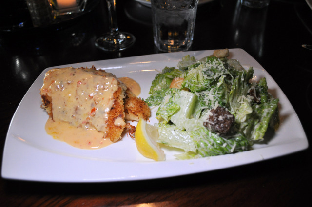 Crab Encrusted Halibut from the Waterfront Depot.